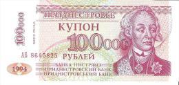Transnistria - Pick 31 - 100.000 Rublei 1996 - Unc - Banconote