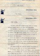 VP5646 - 8 Lettres De Mme J.LAVILLONNIERE à PARIS Pour Mr C. JEANBLANC Au Plateau D'ASSY ( Haute Savoie ) Récit - Vieux Papiers