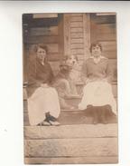 Old Photograph Of Belgian Immigrants In Lowell, Massachusetts, 2 Ladies With Dog  (pk31393) - Etats-Unis