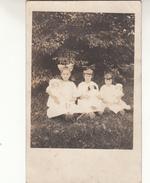 Old Photograph Of Belgian Immigrants In Lowell, Massachusetts, 3 Little Girls  (pk31394) - Etats-Unis