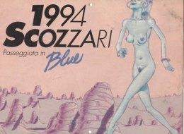 CALENDARIO 1994 Erotico Disegnato BLUE (231110) - Calendari