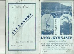 LYON _GYMNASTE  S A G _XVIe Grand Gala Gymnique FRANCO_SUISSE _10 CHAMPIONS SELECTIONNE_Le 22 Janvier1939 - Gymnastique