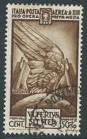 1935 REGNO USATO POSTA AEREA MILIZIA 50 CENT - R3-6 - 1900-44 Vittorio Emanuele III