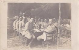 Carte-photo : Militaires à Donnement (10), Près Brienne Le Chateau - Guerre, Militaire
