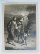 Vers 1910/15 GRANDE IMAGE PIEUSE (33cm X 24cm) Bouasse-Lebel : JEANNE D'ARC  Par Etienne L. ANGLAS  Flight Into Egypt - Devotion Images