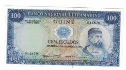 Portugese Guine (now Gunea-Bissau) #45 100 Escudos 1971 Issue Banknote Currency - Guinea-Bissau