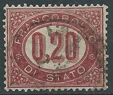 1875 REGNO USATO SERVIZIO DI STATO 20 CENT - R3-6 - Servizi