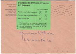 FRANCIA - France - 19?? - Franchise - Trésor Publique - FD, Fausse Direction - Viaggiata Da Nantes Per Rezé, France - Marcophilie (Lettres)