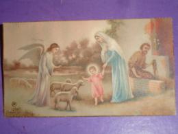 AR 1210 Dep. Angelo, Maria , Gesù Bambino S.Giuseppe Falegname, Agnellini   - Santino Anni'30 - Images Religieuses