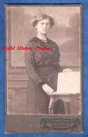 Photo Ancienne CDV Vers 1900 - RONSDORF ( Wuppertal , Deutschland ) - Portrait D'une Femme - Photographie Arthur Böcker - Anciennes (Av. 1900)