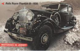 JERSEY ISL. - Rolls Royce Phantom III-1936, CN : 77JERC(normal 0), Tirage 15000, Used - Jersey Et Guernesey
