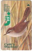 "JERSEY ISL. - Jersey""s Wildlife/Cetti""s Warbler, CN : 33JERA(normal 0), Tirage %20000, Used"