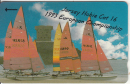 JERSEY ISL. - Jersey Hobbie Cat 16/1993 European Championship, CN : 20JERA(normal 0), Tirage 15000, Used