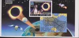 B)2009 KOREA, PROOF ERROR, INTERNATIONAL YEAR OF ASTRONOMY, SPACE ECLIPSE, SATELITE, PLANETS, DOGS, SOUVENIR SHEET, MNH - Korea (...-1945)