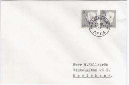 Sweden Sverige 1957 King Gustav VI Adolf Stamp, Canceled In Stockholm