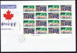 1980  O, Canada Centenary  Sc 857-8  Sheet Of 8 Each  SCS Cachet - First Day Covers
