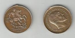 2 PETITES  MEDAILLES ( SANS ANNEAU ) EDOUARD VII - Monarchia/ Nobiltà