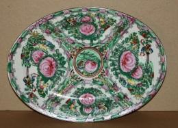 Art D'Asie  - Plat Ovale En Porcelaine De Canton Chine - Art Asiatique