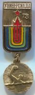 WATER POLO, PALLANUOTO - UNIVERSIADE 1973. RUSSIA, Vintage Pin Badge, Abzeichen, D 50 X 20 Mm - Water Polo