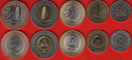 Angola Set Of 5 Coins: 50 Centimos - 20 Kwanzas 2012-2014 UNC - Angola