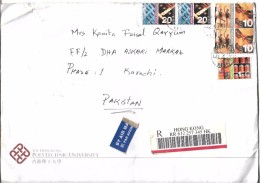 Hong Kong Registered Airmail 2002 $10, Ballet, Chinese Opera, 2002 Hong Kong Definitive Stamps Postal History Cover - Covers & Documents