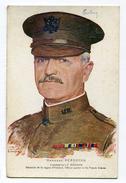 CPA  Illustrateur :  BOUCHOR    Le Général PERSHING Avec Croix Rouge USA     VOIR  DESCRIPTIF - Illustrateurs & Photographes