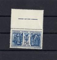 Exposition Coloniale PARIS  1931 Yvert N° 274 Bleu Neuf Xx - France