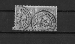 Yvert N° 66 Gris En Double Obl. SAVOIE - 1876-1878 Sage (Type I)
