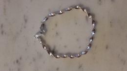 Bracelet,argent,silver.maille Plate - Bracelets
