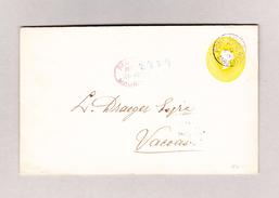 GB Mauritius PORT-LOUIS 25.4.1892 Ganzsache 50c Einschreiben Nach Vacaos - Maurice (...-1967)
