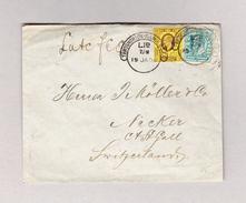 "GB London Throgmorton Avenue B.O.E.C. 19.01.1905 ""Hooded Cercle"" Stempel Brief Nach Necker St Gallen - Lettres & Documents"
