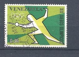VENEZUELA 1968 Airmail - Olympic Games - Mexico City, Mexico  FENCING    USED - Venezuela