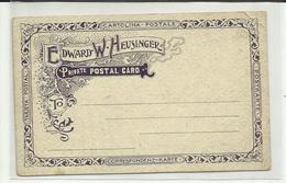 TEXAS . SAN ANTONIO . EDWARD W.  HEUSINGER . PRIVATE POSTAL CARD . ILLUSTRATEUR BROTZE 04 ( Plis Coin ) - San Antonio