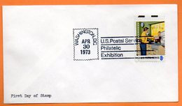 U.S.A   WASHINGTON  SERVICE POSTAL     1973    Lettre Entière N° BB 845 - Post