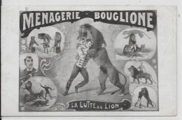 CPA Cirque Circus Cirk Circulé Dompteur Fauves BOUGLIONE Lion Circulé - Circus