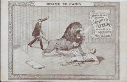 CPA Cirque Circus Cirk Circulé Dompteur Fauves BOUGLIONE Lion Dos Neutre Non Imprimé Non Circulé - Circus