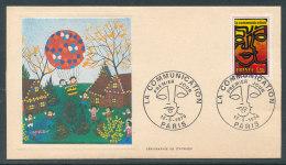 1976 Env 1er Jour La Communication - Sérigraphie De Cyprien - FDC
