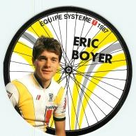 Eric BOYER . 2 Scans. Cyclisme. Système U 1987 - Radsport