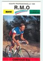 Eric CARITOUX, Champion De France . 2 Scans. Cyclisme. RMO 1989 - Ciclismo