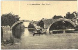 Carte Postale Ancienne De SAINT THIBERY-Pont Romain - France