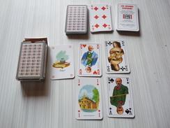 LES GRANDS ECRIVAINS -  Jeu De 52 Cartes + 2 Jokers-  - Cartes Dos Gris - Réalisé Pour  Le Grand Livre Du Mois - - Kartenspiele (traditionell)