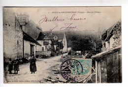 (n°437)  CPA 88 MONT LES NEUFCHATEAU  Rue Du Chateau 1906  Beau Cachet____ Luxe Sans Défaut Animation - Neufchateau