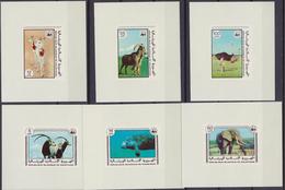 Mauritania 1978 WWF Animali 6 Lux Foglietti MNH - W.W.F.