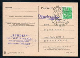 8374 - Alte Postkarte - Drucksache - Sonderstempel Stralsund - 1960 - DDR