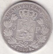 BELGIQUE. 5 FRANCS 1849. LEOPOLD PREMIER (TÊTE NUE). Position A .ARGENT - 1831-1865: Léopold I