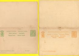 Luxemburg / Ganzsachen - 2 Postkarten Aus Luxemburg Nr 46 + 51 NEU Doppelkarten - Postwaardestukken