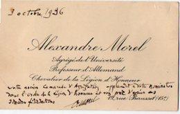 VP6552 - CDV - Carte De Visite De Mr Alexandre MOREL Professeur D'Allemand Chevalier De La Légion D'Honneur - PARIS - Visitenkarten