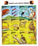 TANZANIA 1993. ANIMALS FAUNA BIRDS... SHEET** - Sellos