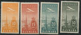 Denmark Airmail: 4 Stamps (**) - Poste Aérienne