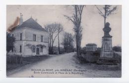 BOURG DU BOST  24 DORDOGNE PERIGORD   ÉCOLE COMMUNALE  ET  PLACE DE LA RÉPUBLIQUE - France